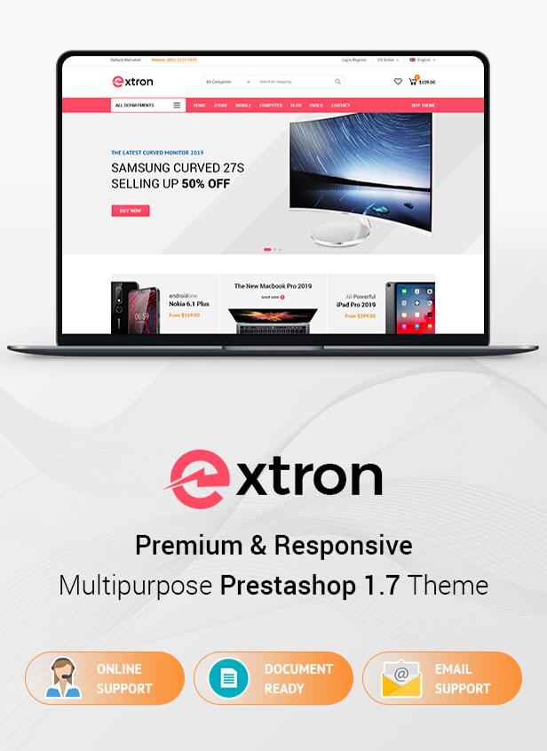 Extron Prestashop Theme