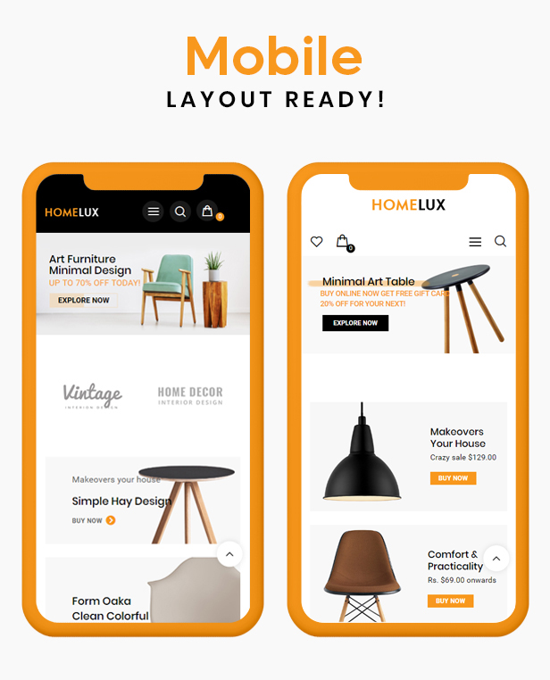 Homelux Prestashop Theme
