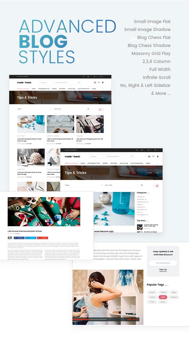 MadebyHand | eCommerce WordPress Theme